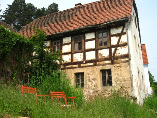 Fachwerkhaus vor der Sanierung